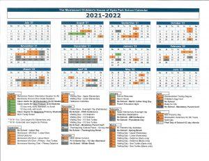 Hyde Park Montessori School Calendar for 2021-22